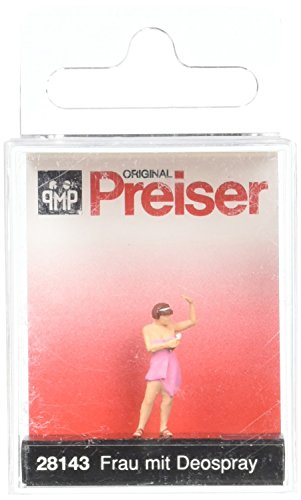 Preiser 28143 People at Home Woman Spraying Deodorant HO Model Figure