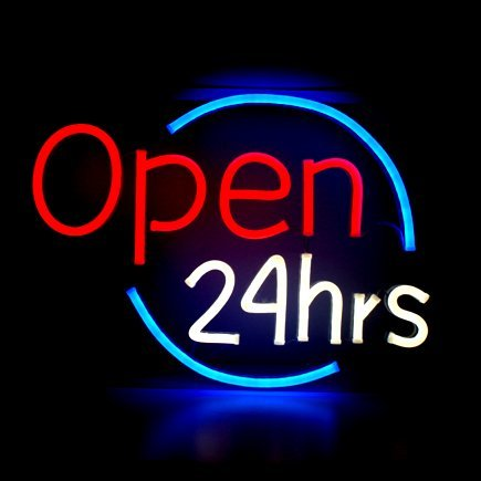 Urby™ 17×14 Open 24 Hrs Custom Handmade Glass Tube Neon Light Sign 3-Year Warranty-Unique Artwork! HL225