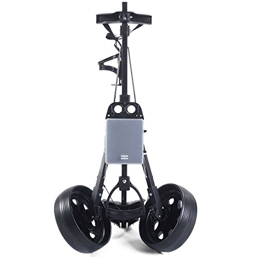 MD Group Golf Cart Holder Trolley Foldable 2 Wheels Push Pull Foldable Design Lightweight Equipment by MD Group (Image #6)