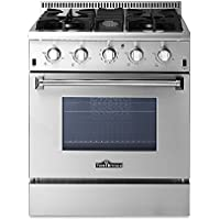 THOR KITCHEN 30in 4 Burners 4.2 Cu. Ft Stainless Steel Free Standing Gas Range Professional Kitchen Cooker