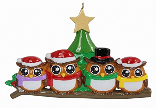 (WorldWide Personalized Ornament Owl Family)