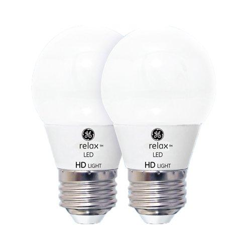 GE Lighting 92215 LED Relax HD 4-watt (40-watt Replacement), 300-Lumen A15 Light Bulb with Medium Base, Soft White, 2-Pack