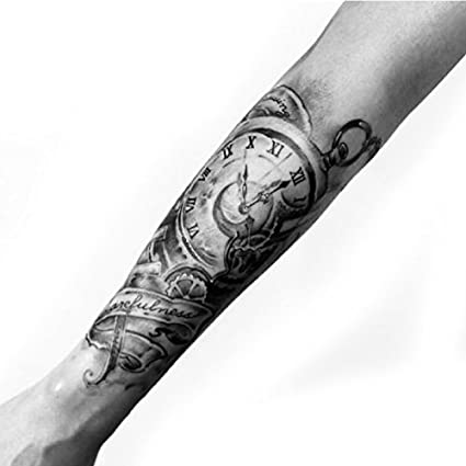 Oottati 2 Hojas Brazo Reloj Tatuajes Temporales TF285
