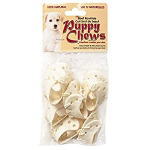 "CHEW FUN FunChew PP-010819 Assorted Flavor 2-3"" Puppy or Small Dog Rawhide Shoe Chews (6 Pack), Small"