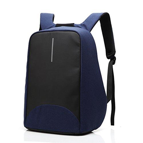 MIJORA-Men Women Anti-Theft Backpack USB Charging Travel School Bag Laptop Rucksack(color:#3 blue) Guidecraft Ring