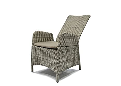 Ratán Sillón Relax, silla de jardín Rotterdam Respaldo ...