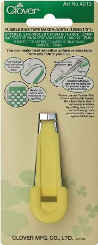 """Clover Fusible Bias Tape Maker All 5 Sizes 1//4/"""" 3//8/"""" 1//2/"""" 3//4/"""" 1/"""" Set"""