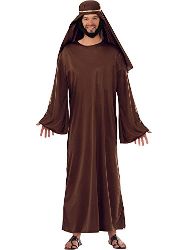 Forum Novelties Men's Forum Value Biblical Robe, Brown, Standard]()