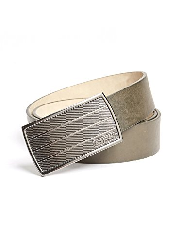 GUESS Factory Men's Logo Plaque Belt