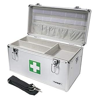 HMF 14701-09 Botiquín de Primeros Auxilios, Depósito de Medicamentos, asa de Transporte, Aluminio, 40 x 22,5 x 20,5 cm: Amazon.es: Amazon.es