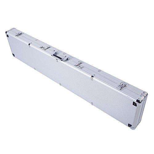 135x28x10cm Aluminum New Framed Locking Gun Pistol HandGun Lock Box Hard Storage Carry Case -