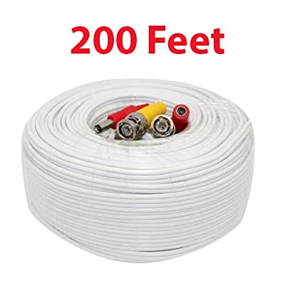 2 X 200ft Foot All-In-One Siamese BNC Video and Power CCTV Cable for Security Camera Surveillance Video System