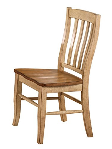 Winners Only Quails Run Rake Back Dining Side Chair Set of 2 in Almond/Wheat - DQ1452SW