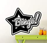 ChloeLew778 Bingo Sign Wall Decal Bingo Emblem Logo Vinyl Sticker Home Room Interior Decoration