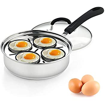Amazon Com Cook N Home 02625 4 Cup Stainless Steel Egg