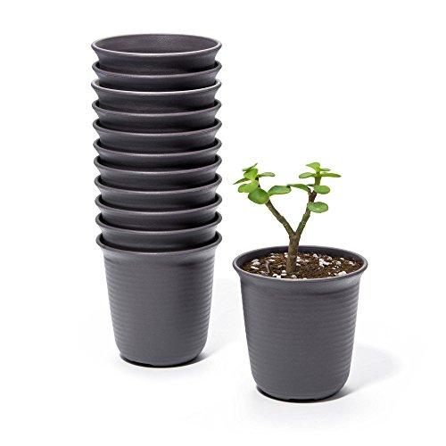 4 1 2 inch plastic flower pots - 9