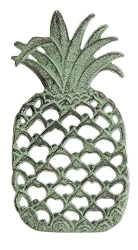 Cast Iron Pineapple Trivet with Patina Style Finish