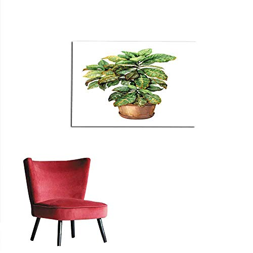 (homehot Painting Post Croton in Clay Flowerpot Mural 24