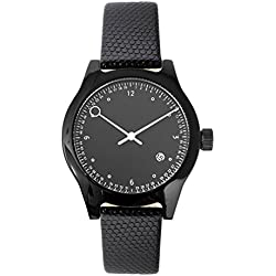 Squarestreet SQ03 Minuteman Watch Two Hand Lizard Black Leather New Original