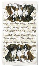 Boxer Puppies Kitchen Towel