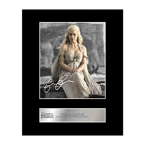 (iconic pics Emilia Clarke Signed Mounted Photo Display Daenerys Targaryen - Game of Thrones)