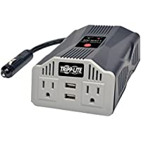 Tripp Lite 400W Car Power Inverter with 2 Outlets & 2 USB Charging Ports, Auto Inverter, Ultra Compact (PV400USB)