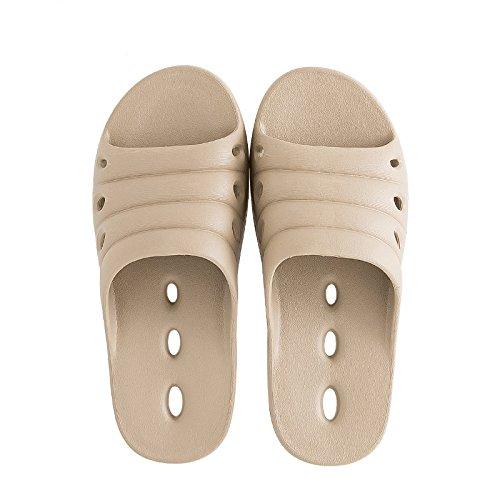 FankouZapatillas de verano femenino baño interior fugas expuesta una espuma ligera y simple base fast dry cool zapatillas y desodorización ,43-44, caqui zapatillas para el agua