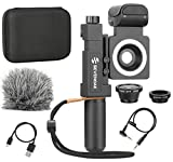 Sevenoak SmartCine Complete Universal Smartphone Video Kit with Phone Rig, Built-in Stereo Microphone & LED Light, Wide-Angle & Fisheye Lenses – Compatible with iPhone & Android Smartphone