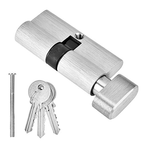 Copper Single Open Lock Cylinder Wooden Bedroom Door Lock Cylinder with Keys Anti-Snap Anti-Drill Anti-Theft Lock Core 65mm