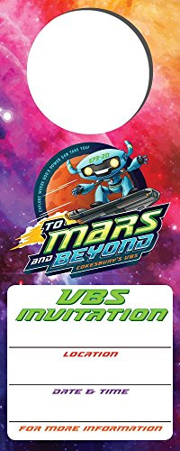 (Vacation Bible School (VBS) 2019 To Mars and Beyond Promotional Door Hangers (Pkg of 24): Explore Where God's Power Can Take You!)