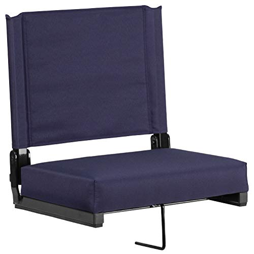 Flash Furniture Game Day Seats Stadium Chair by Flash with Ultra-Padded Seat, Navy