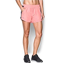Under Armour Women's Fly-by Shorts,cape Coralreflective, Large