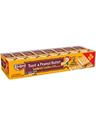 Keebler Toast and Peanut Butter Sandwich Crackers, Value Pack, Single Serve, 1.38 oz Packages (27 Count)