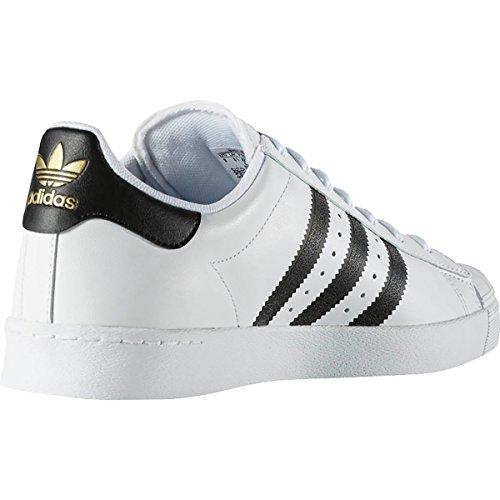 Adidas Superstar Vulc Adv Ftwhite / negro / ftwht del patín zapatos 8,5 con nosotros Blanco