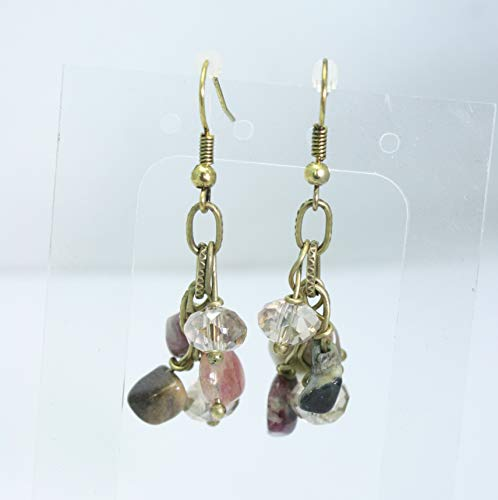 Tourmaline and Crystal Cluster Earrings