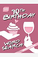 90th Birthday Word Search: Large Print Puzzle Book (Cupcake Celebration Cover) Paperback