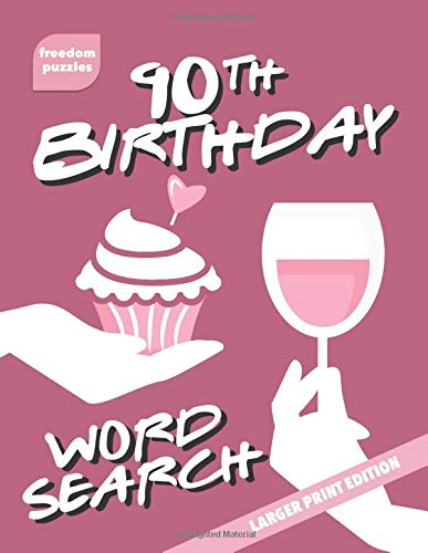 90th Birthday Word Search: Large Print Puzzle Book