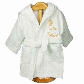 Hooded Baby Bathrobe - Dressing gowns personalised with name  Amazon ... 23828f2d1