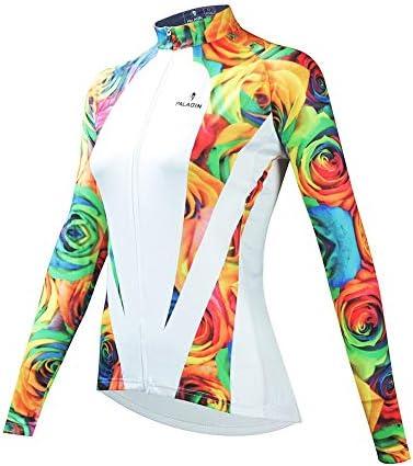 サイクルジャージ 女性のジャージースーツ長袖自転車服通気性の快適なUV保護 吸汗速乾高通気 (色 : A1, サイズ : XXL)
