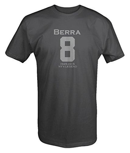 - Stealth - Yogi Berra - Jersey Style 8 NY Legend 1925-2015 T shirt - Large