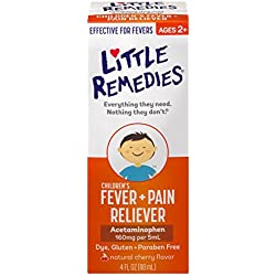 Little Remedies Child Fever/Pain Reliever, Cherry Flavor, 4 Ounce