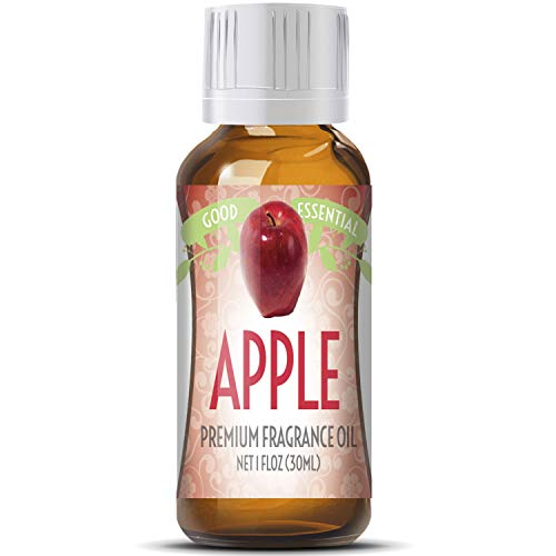 Apple Scented Oil by Good Essential (Huge 1oz Bottle - Premium Grade Fragrance Oil) - Perfect for Aromatherapy, Soaps, Candles, Slime, Lotions, and More! ()