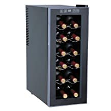 Sunpentown WC-1271: Thermo-Electric Slim Wine Cooler (12-bottles) NoPart: WC-1271