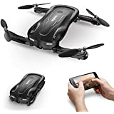 Syma Z1 Foldable RC Drone with 720 HD Wi-fi Camera Live Video FPV, 2.4GHz 6-Axis Gyro Remote Control Quadcopter for Kids and Beginners (Black)