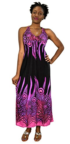 long black peacock dress - 6