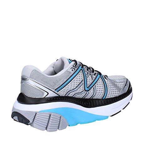 Azul MBT Textil 39 Sneakers Plata EU Mujer qwxwPfRnX