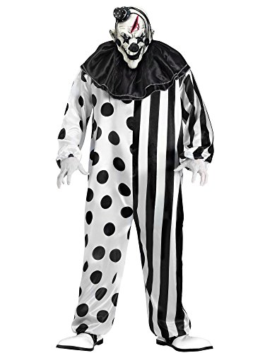 [FunWorld Killer Clown Complete, Black/White, One Size] (Scary Halloween Costumes Mens)