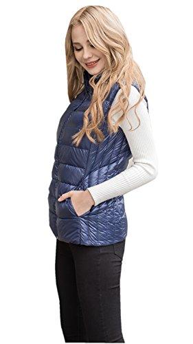 MS VASSA Femme Doudoune Sans Manche Ultra Légère Veste Zippée Gilet S-7XL L Blue