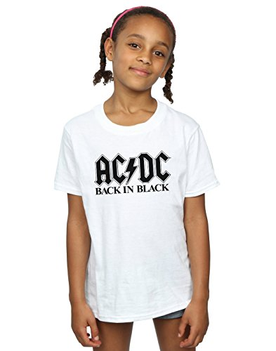 Price comparison product image AC/DC Girls Back in Black Logo T-Shirt 12-13 Years White