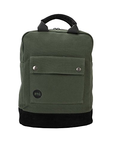 Mi-Pac Unisex Tote Backpack Canvas Ιν Green Green by Mi-Pac